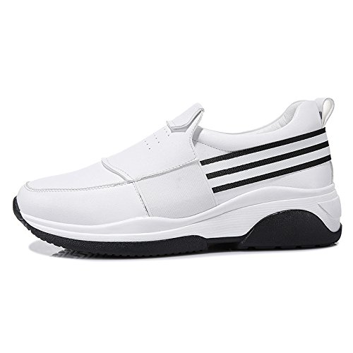 KHSKX-Women'S Shoes With Thick Bottom Slope Documentary White Cake Female Leisure Shoes Thirty-eight 4jBouWMz3