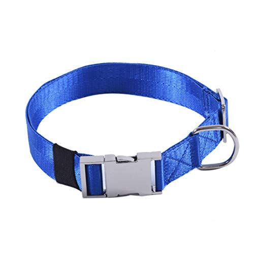 Puppy Face Durable Dog Collar with Metal Buckle,Nylon Collars for Dogs (Large:Neck 18
