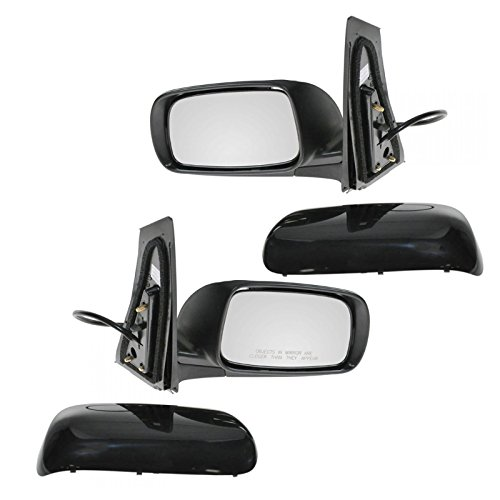 Power Folding Mirror Set - Black Folding Power Side View Door Mirrors Left & Right Pair Set for 08-09 Prius