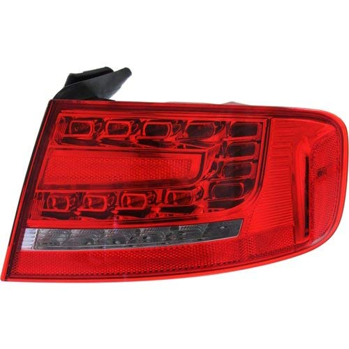 Tail Light Compatible with AUDI A4 2009-2012/S4 2010-2012 RH Outer Assembly LED Type Sedan B8