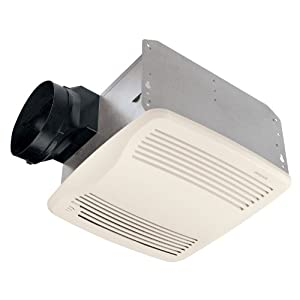 Broan QTXE110S Ultra Silent Humidity-Sensing Auto-On/Off Bath Fan, 110 CFM