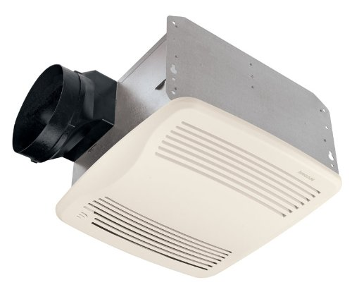 Broan QTXE110S Ultra Silent Humidity-Sensing Auto-On/Off Bath Fan, 110 CFM, - Sensing Humidity Bathroom Fan