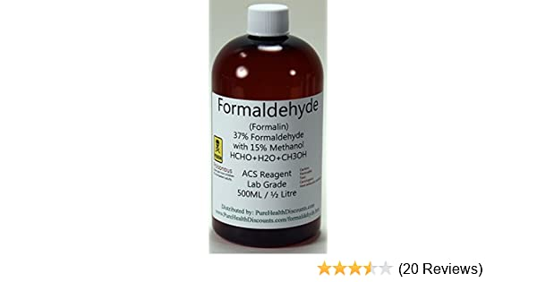 37% Formaldehyde 500ml (1/2 liter, approx 1 pint) UPC grade  shipped fast  ONLY to lower USA 48 states