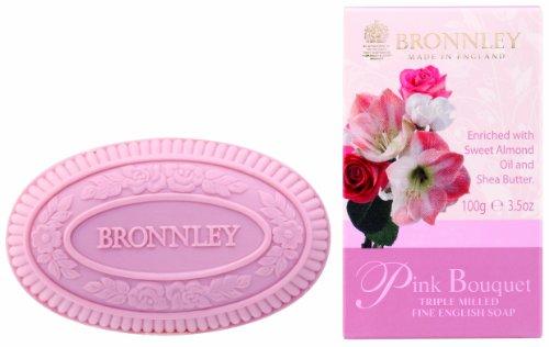 Bronnley Pink Bouquet 100g/3.5oz Triple Milled Fine English Soap