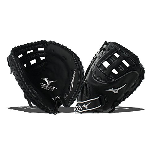 Mizuno Prospect Gxs102 Fastpitch Softball Catchers Mitts, Size 32.5, Black