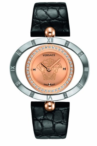 Versace Women's 91Q89FD997 S009 Eon Gold IP and Steel Rotating Diamond Bezel Watch