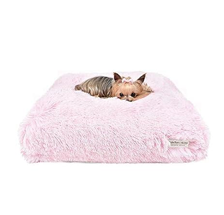 "Peluche Plush Cuddle Cloud Powder Puff Shag 24"" Square Eco-Wool-Filled Dog"