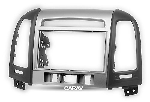 Carav 11-716 Double din installation dash kit dash installation kit Radio Stereo Facia Fascia Panel Frame DVD Player Dash Install Panel for HYUNDAI Santa Fe 2006-2012 with 17398mm 178100mm 178102mm