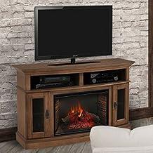 "Merrick Cabinet Brown & 26"" Infrared Firebox"