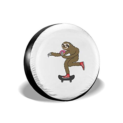 DPT3LTT Skater Sloth and The Donuts Spare Tire Cover Fit Jeep Trailer RV Ect (Best Donuts In Columbus)