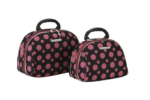 rockland-luggage-rockland-2-piece-cosmetic-set-black-pink-dot-one-size