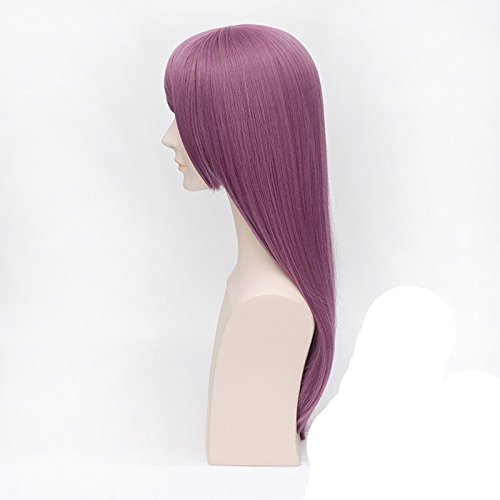 Amazon.com: Icoser Tokyo Ghoul Rize Kamishiro Anime Cosplay Wigs Purple Long Synthetic Hair: Beauty