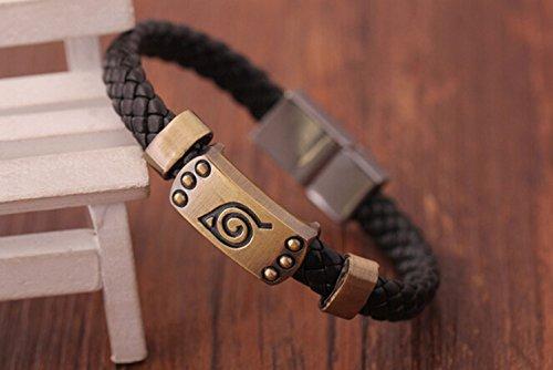 allscarf007 Village Badge Anime Naruto Leaf Alloy Unisex Bracelet Wristband Cosplay Replacement