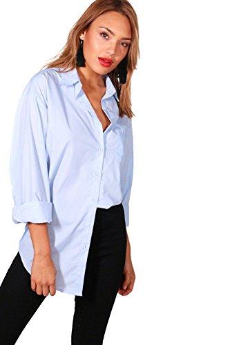 Blau Damen Tabitha Hemd Mit Übergroßen Ärmeln Blau