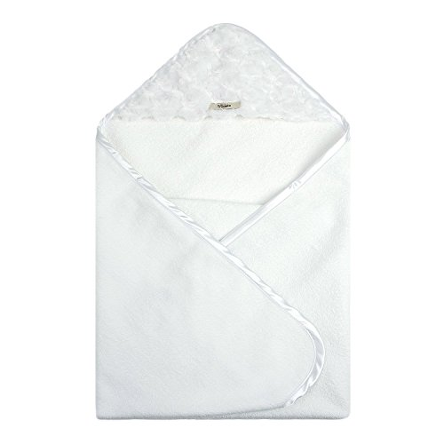 My Blankee Newborn Hooded Luxe Towel, Snail White
