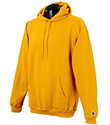Champion Men\'s Front Pocket Pullover Hoodie Sweatshirt, Small, Gold
