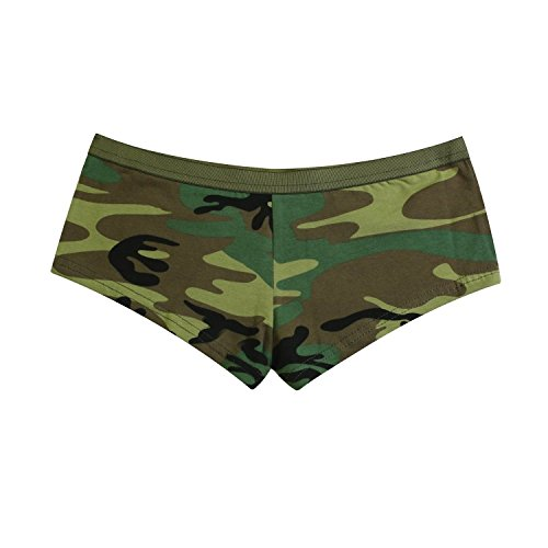 Rothco Women's Booty Shorts, Woodland Camo, Large - Womens Army Booty