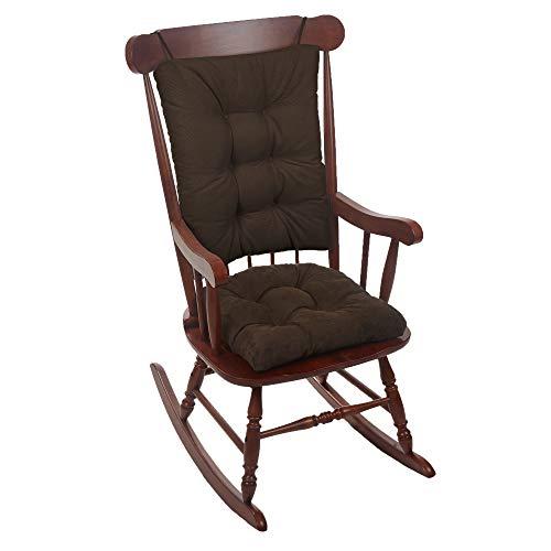 Klear Vu Twillo Overstuffed Rocking Chair Set, Seat and Seatback Cushions, Chocolate