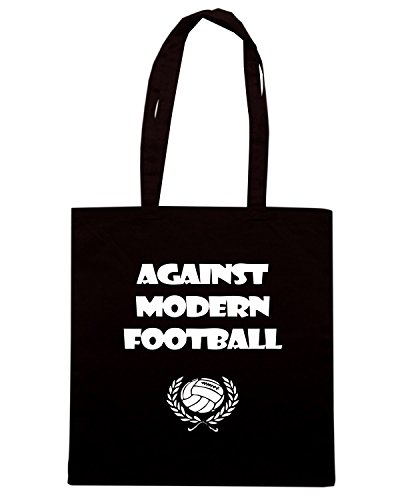 T-Shirtshock - Bolsa para la compra WC0175 Against Modern Football 2 Negro