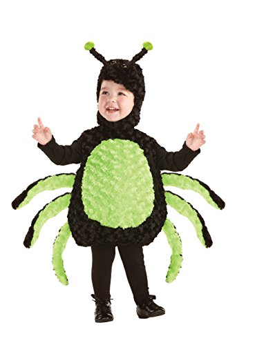 Underwraps Toddler Kids Baby's Spider Belly, Black/Green, X-Large -