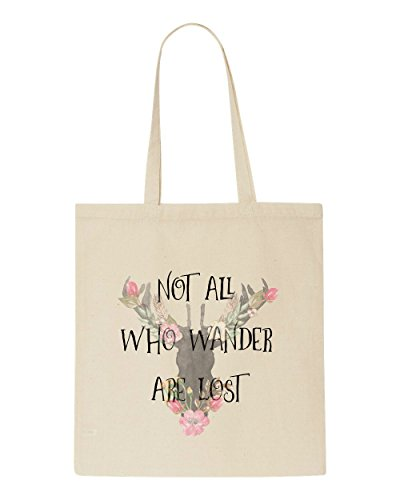 Beige Quotes Wander All Lost Tote Are Who Tribal Travel Not Bag Shopper Motivational 4WT6qa06