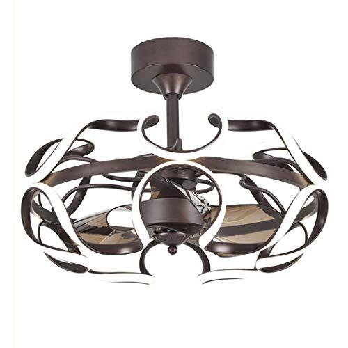 (GAOLIQIN LED Ceiling Fan with Light Modern,8H Timing Flush Mount LED Ceiling Light with Remote Control, 60W,4000K Ceiling Lamp for Living Room Bedroom,a)
