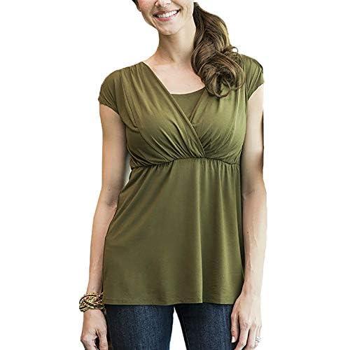 Sonderrabatt großer Rabatt vorbestellen Damen Mutterschaft T-Shirt Nursing Pyjamas Still-Nachthemd ...