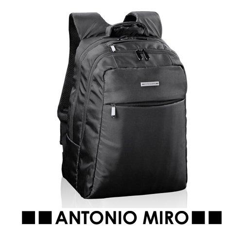 Rucksack faltbar, Antonio Miró, Nylon. 29x 41x 18cm Gepolsterte Tasche für Notebook. Gepolsterte Rückseite und Bändern