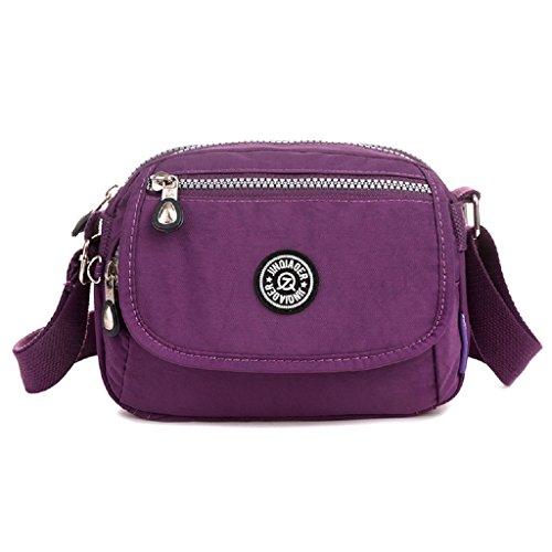 body Shoulder Cross Bag Lightweight Purple Water Girls Mini Resistant for Nylon TianHengYi Bag Messenger Travel RXTqItx
