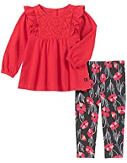 Calvin Klein Baby Girls 2 Pieces Leggings Set