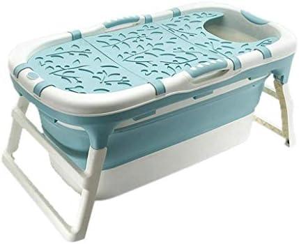 Kk 折りたたみ浴槽太い特大プラスチックアダルトバスタブ家庭児童バスタブ暖かい大人バスタブポータブル折りたたみ風呂バレル(113x59x53センチ)