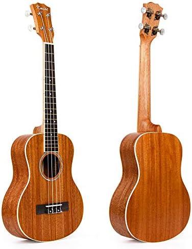 Kmise - Ukelele tenor, 66 cm, madera maciza de caoba, puente de ...