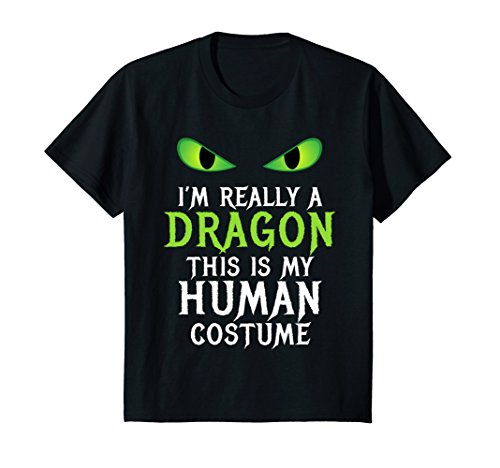 Kids Funny Scary Dragon Costume Halloween Shirt for Women Men Boy 8 Black