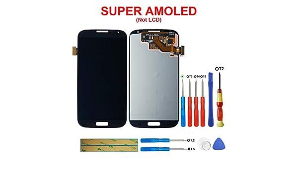 Swark Super AMOLED - Pantalla táctil LCD para Samsung I9500 Galaxy S4 (sin Marco), Color Negro: Amazon.es: Electrónica