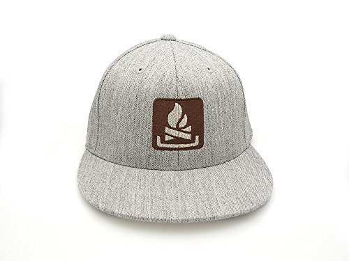 Men's/Unisex Hat - Campfire - FlexFit Hat - Fitted & Snapback Options Available