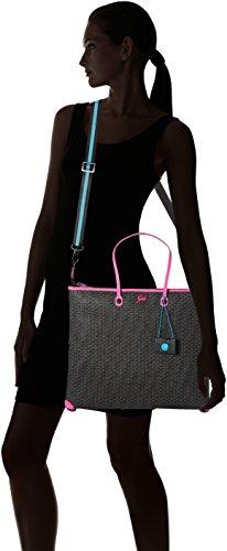 Gabs Damen G3 Manici Sottili Tg.l Black Cube (T0038) Business Tasche, 1x36x43 cm Mehrfarbig (Nero+fuxia)