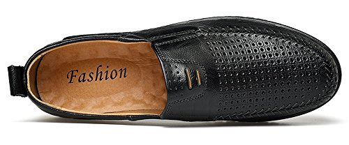 Driving Black Car Loafers On Shoes Soft Octopus Boat MOHEM Slip Casual Men's hole71858 Flats Comfort UIwOzStqx