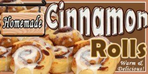 (Concession graphics -24 in x 12 in - CINNAMON ROLL - Weatherproof BACKLIT FILM)