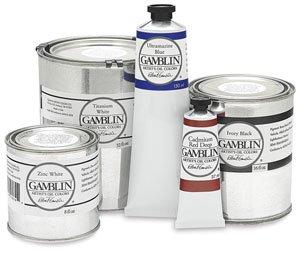 Gamblin Artist's Oil Color 32 oz Can - Flake White (Gamblin Flake White Replacement)