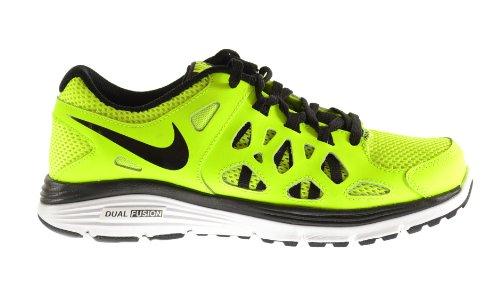 6b16b84baad3 Nike Dual Fusion Run 2 (GS) Big Kids Shoes Volt Black-White 599801-700 (6.5  M US) - Buy Online in UAE.