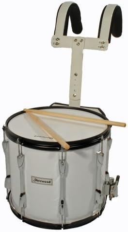 """MPM Marsch-Snare, Marching Drum 35x30cm (14""""x12""""), weiß"""
