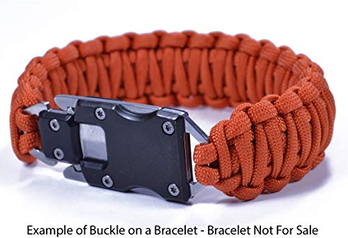 3 Pack - Knife Buckles with Safety Latches - Great for Paracord Bracelets or Keyfobs by Bored Paracord (Image #6)