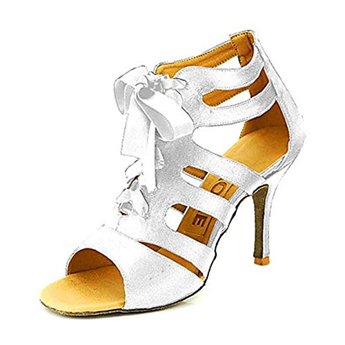 shoes UK7 just shoes Latin CN41 square dance fish dance shoes heel 004 mouth ShangYi silver shoes High dance shoes jazz dance EU40 Oq4ggR