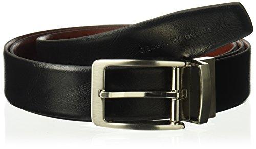Geoffrey Beene Men's Big and Tall Reversible Dress belt, black, 46/48 ()