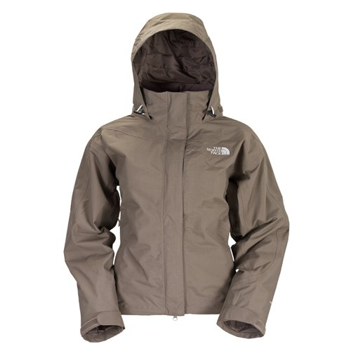 The North Face - Abrigo Impermeable - para Mujer, Mujer, Color Weimaraner Marrón, tamaño: Amazon.es: Ropa y accesorios