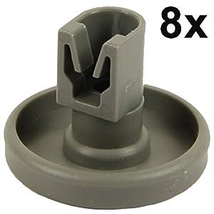 Spülmaschine Unterkorbrollen | Inhalt: 8 Stück | geeignet für AEG Favorit,...