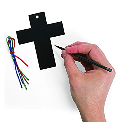 Magic Color Scratch Cross ORN. (2Dz) - Crafts for Kids and Fun Home Activities: Toys & Games
