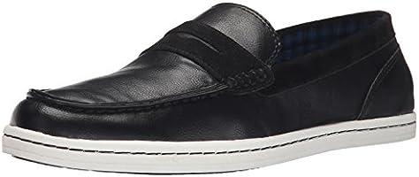 Ben Sherman Men's Parnell Slip-On Loafer, Black, 9 M US