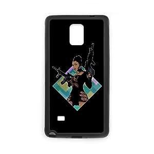 Samsung Galaxy Note 4 Cell Phone Case Black Nicki Minaj Lookin Ass Machine Guns custom phone cover ggjc7244482