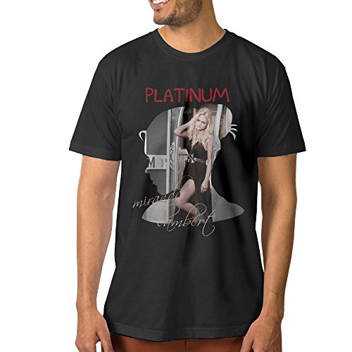 CEDAEI Miranda Platinum Lambert Country Music Singer Men's Latest T Shirts S Black